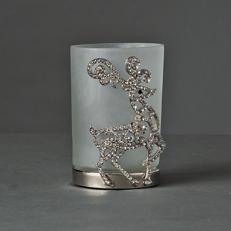 Portavotiva Frost Aplique Venado Silver / Brillos Haus