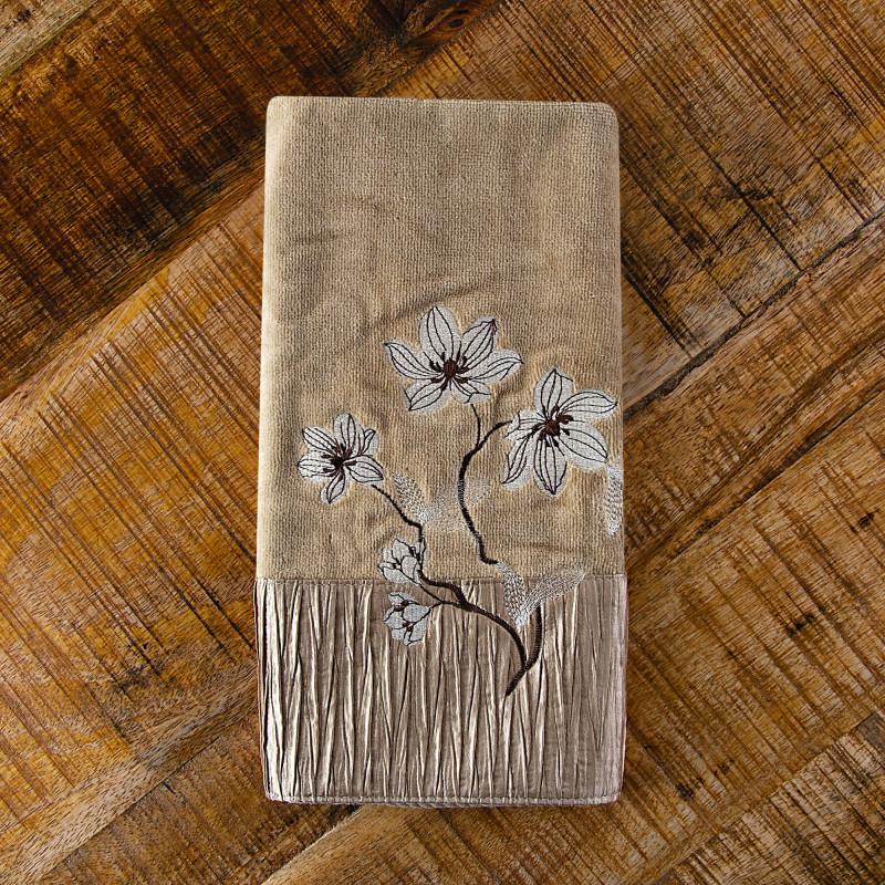 Toalla de manos Magnolia Bronze Croscill