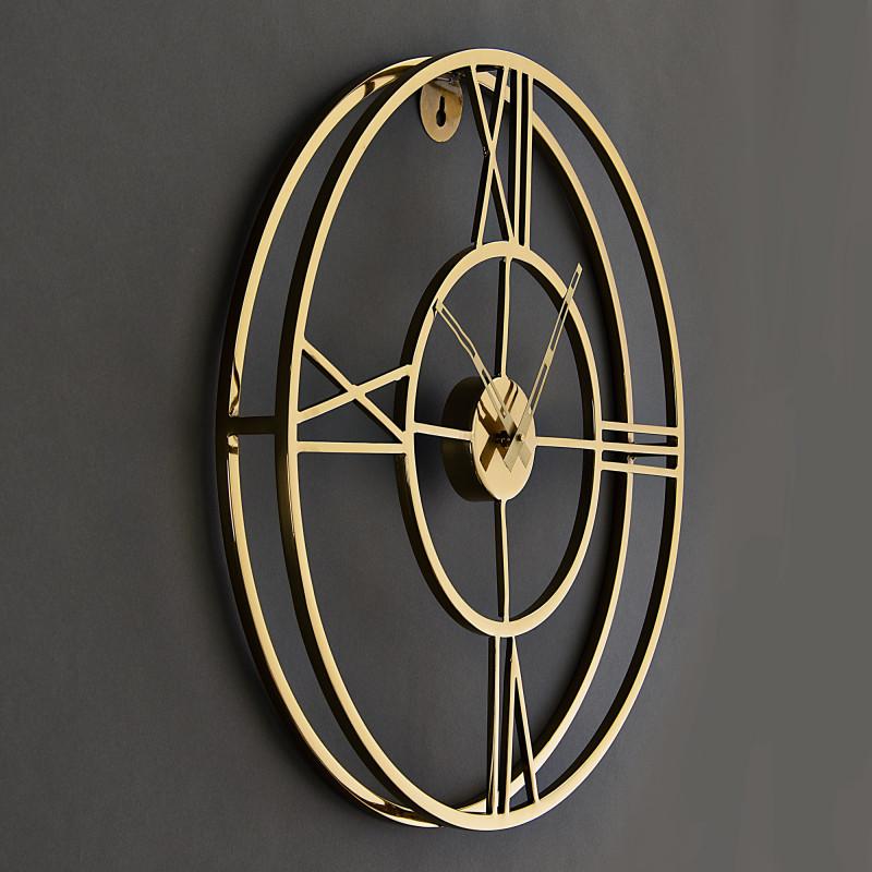 Reloj de pared Dorado Haus