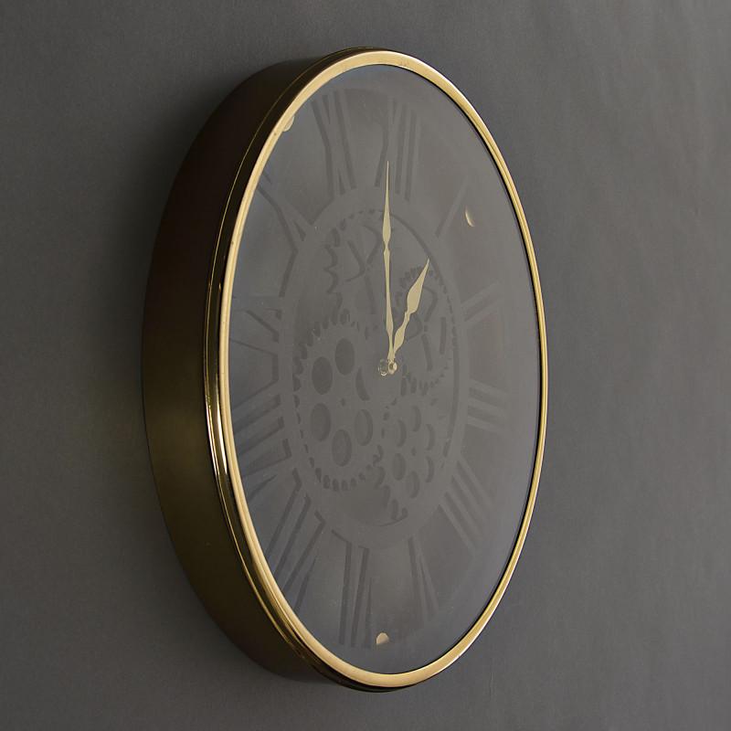 Reloj de pared Negro / Dorado Haus
