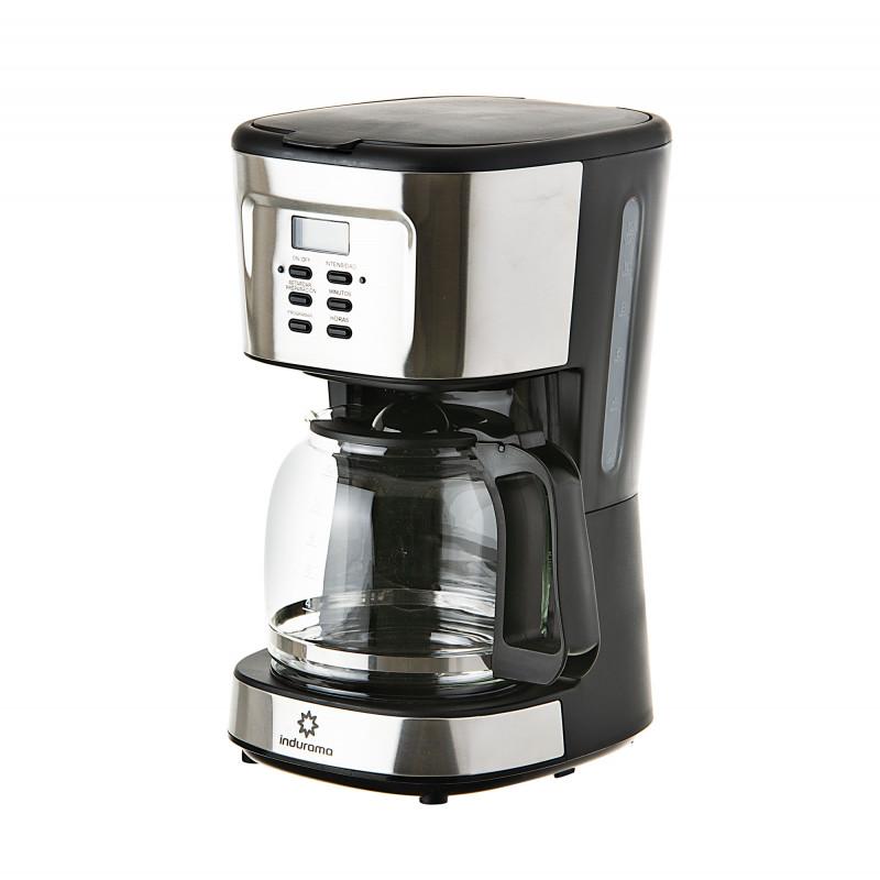 Indurama Cafetera con jarra de vidrio / apagado automático 1.5L / 12tzs / 900W CAF-BCI