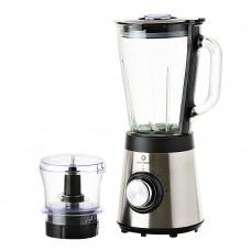 Indurama Licuadora 2 velocidades con jarra de vidrio de 1.5L / accesorio picatodo 600W LIC-PPC