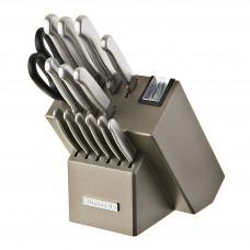 KitchenAid Cuchillos con bloque Mango Silver / Acero inoxidable 16 piezas KKFSS16CS