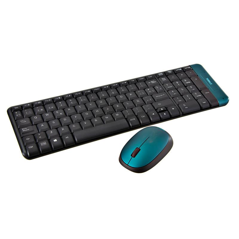 Teclado inalámbrico + Mouse inalámbrico TX-220 Terrax