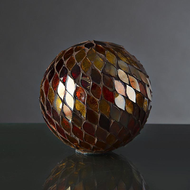 Esfera decorativa Mosaico Rojo / Dorado Haus