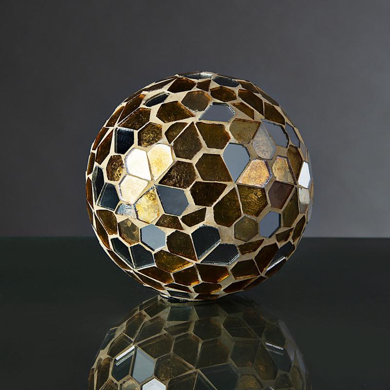 Esfera decorativa Mosaico Dorado / Silver Haus