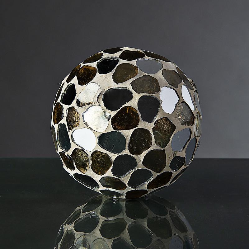 Esfera decorativa Mosaico Ámbar / Silver Haus
