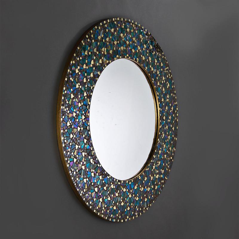 Espejo Mosaico Turquesa Haus