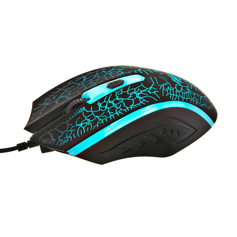 Mouse gaming 1200DPI / 4 botones / 7 colores de luz LED HV-MS736-N Havit