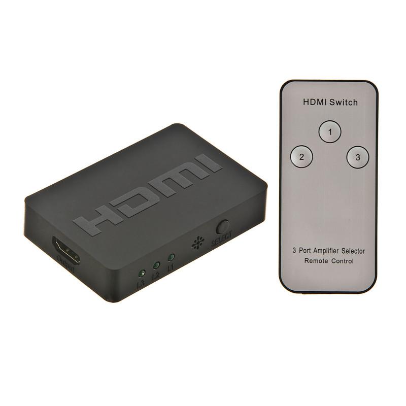Switch HDMI 4K 3 entradas / 1 salida con control remoto Besser Sound