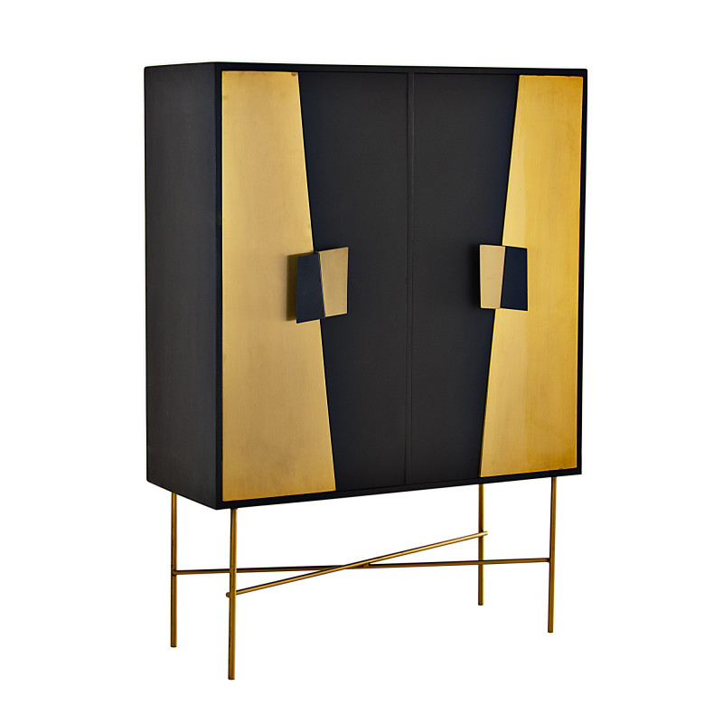 Mueble multiuso Negro / Dorado Haus