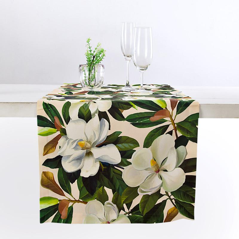 Camino de mesa antifluido Magnolia