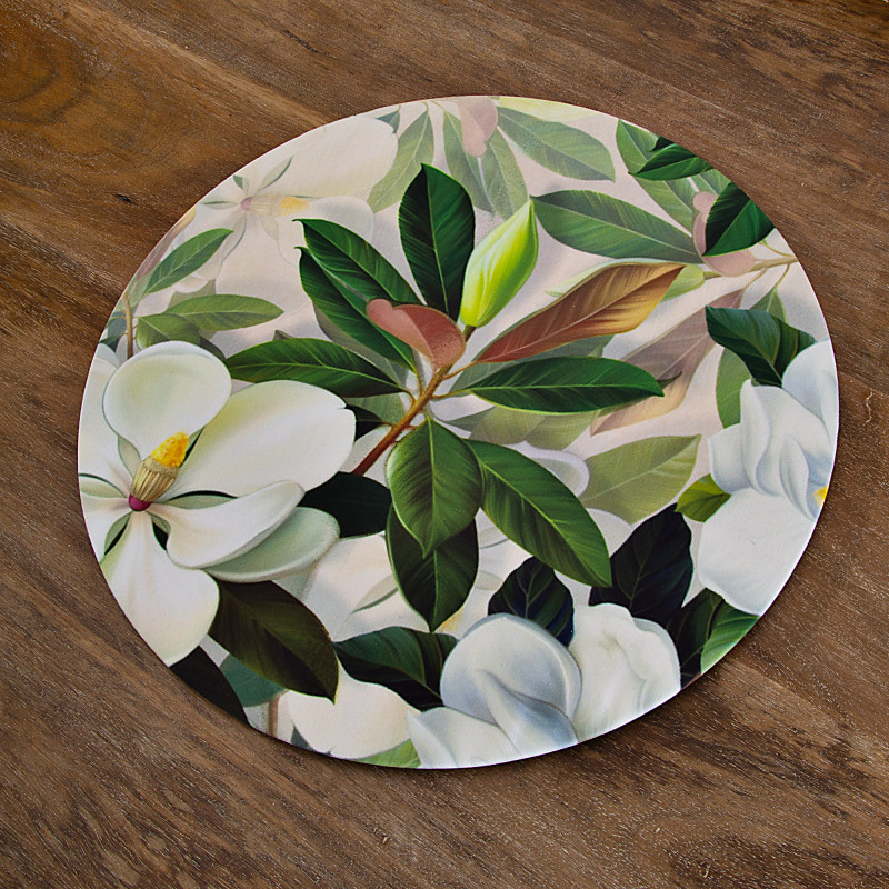Plato con base con forro MDF / Antifluido Magnolia
