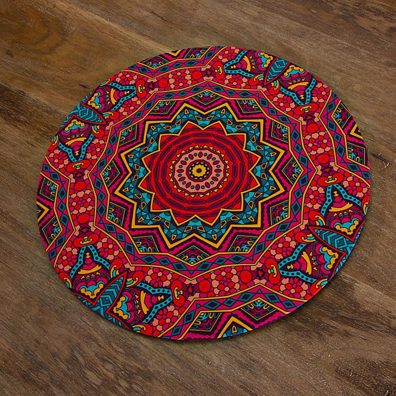 Plato base con forro MDF / Antifluido Mandala Multicolor