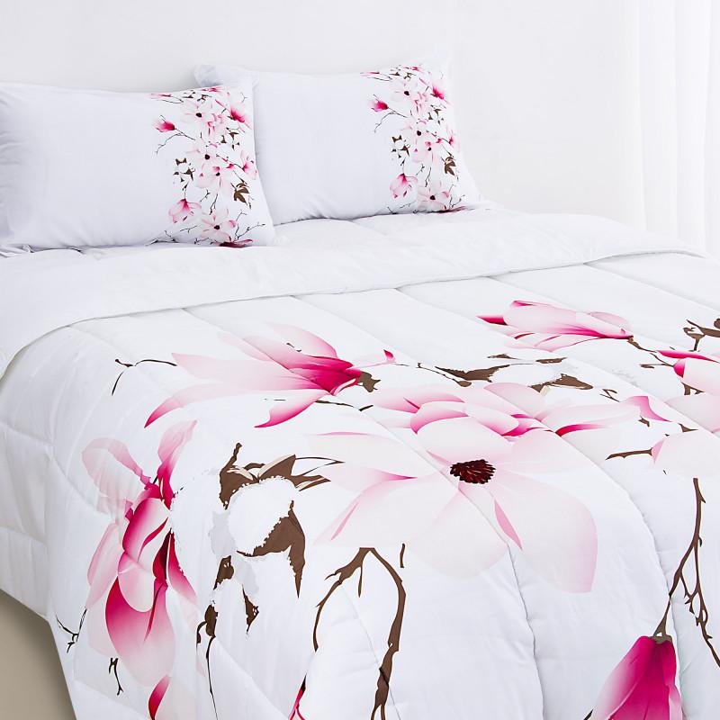 Juego de edredón Multi Magnolia Rosa Haus