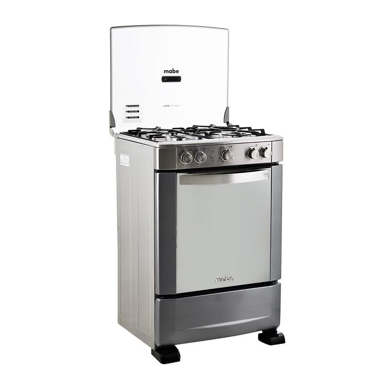 Mabe Cocina a gas con encendido eléctrico 4 quemadores 60cm EM6060FX1