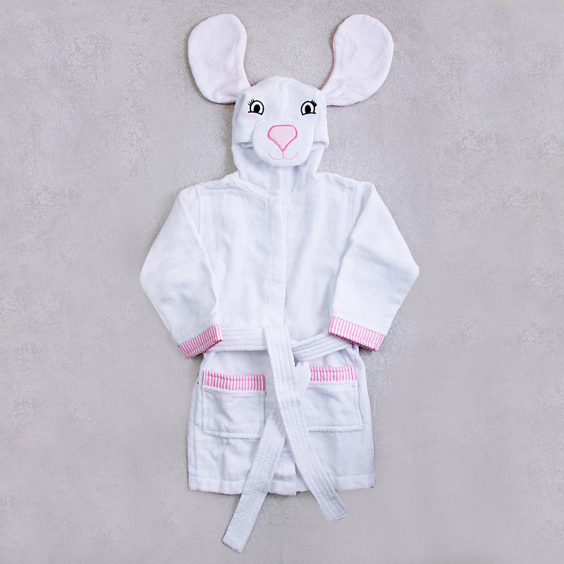 Bata de baño infantil con capucha Conejo Haus