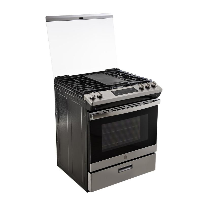 GE Cocina a gas 5 quemadores con cajón de almacenamiento / Autolimpieza 76cm EG7686SSC0