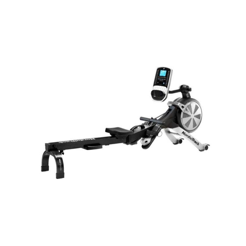 Remo Rower RW500 Consola Ajustable / 26 niveles de resistencia digital con ruedas / puerto de música NordiTrack