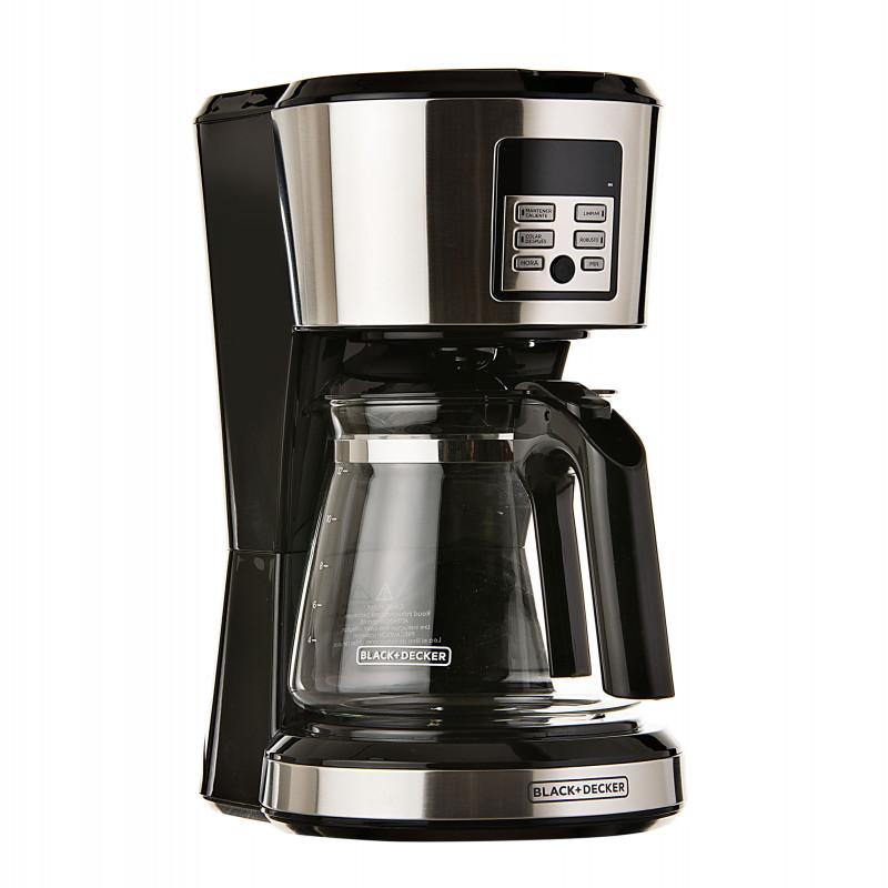 Cafetera digital Programable con filtro permanente 12 tazas 1000W  Black & Decker