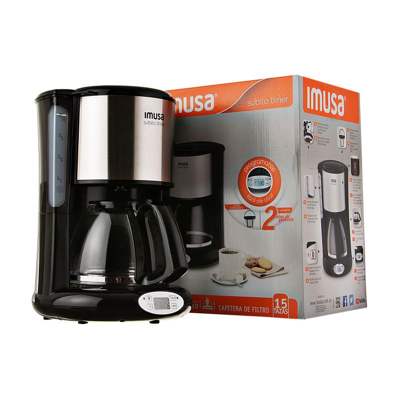 Cafetera Programable con filtro permanente / jarra de 1.25L 15 tazas 900W Imusa