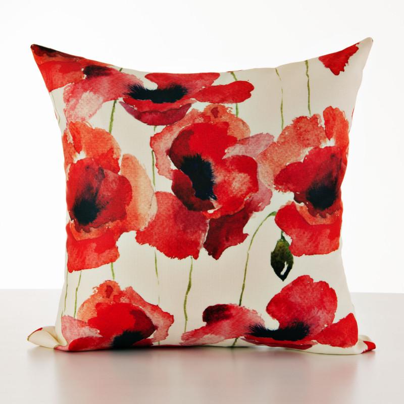 Forro para cojín antifluido Flores Rojo