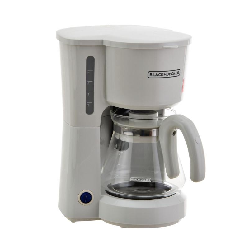 Cafetera con filtro permanente 5 tazas 650W CM0701W Black & Decker