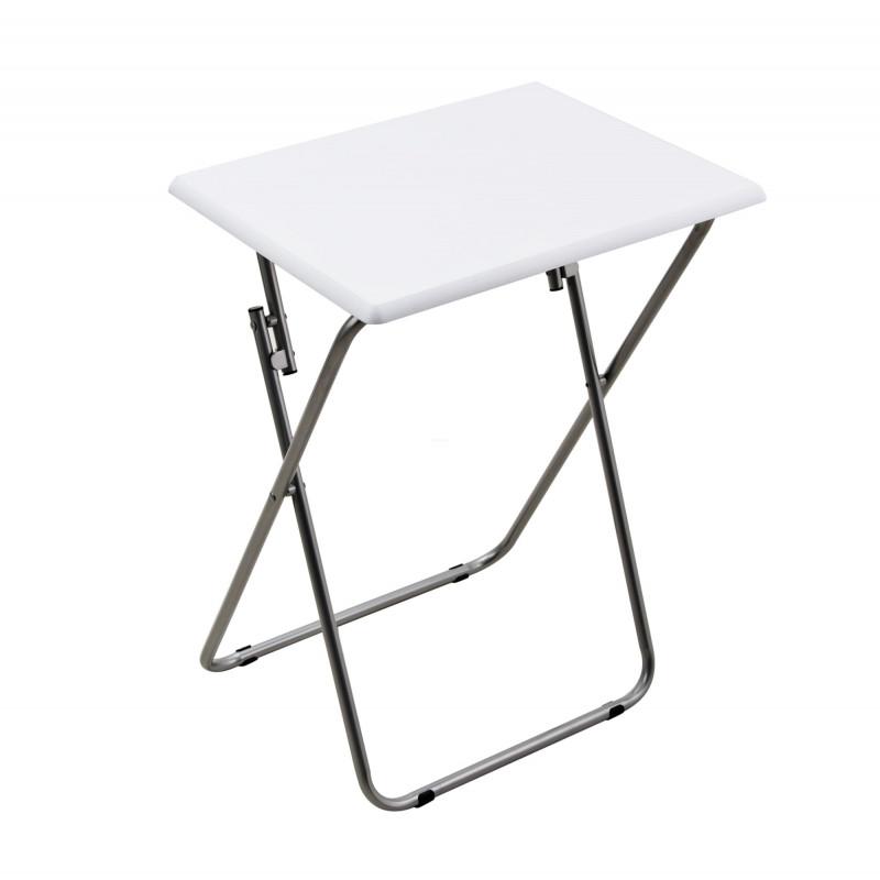 Mesa plegable multiuso de madera Blanco / Silver