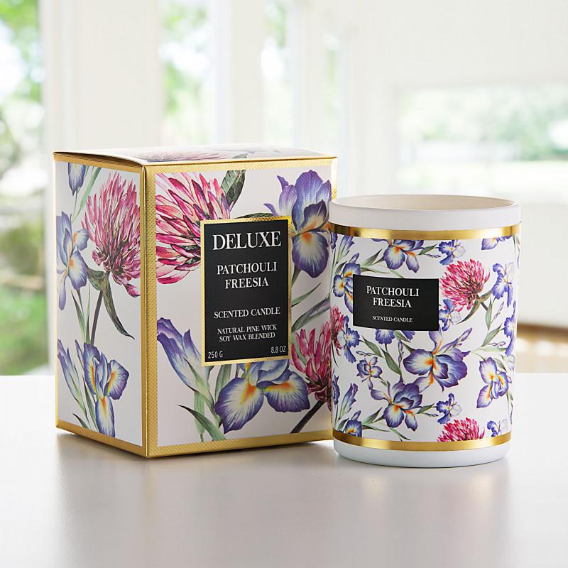 Vela vaso con aroma Flor Patchouli Freesia Greenbay