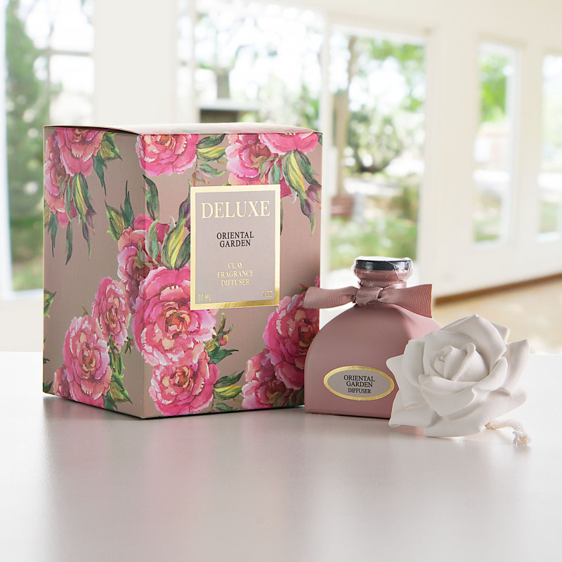 Difusor de aroma con tapa rosa Oriental Garden Greenbay
