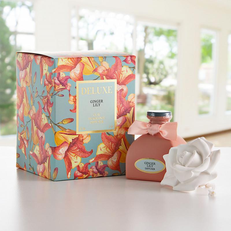 Difusor de aroma con tapa rosa Ginger Lily Greenbay