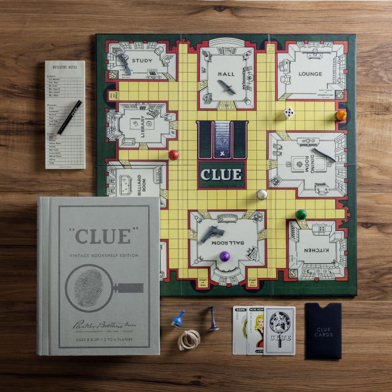 Juego de mesa Clue Libro Edición Vintage 3-6 jugadores
