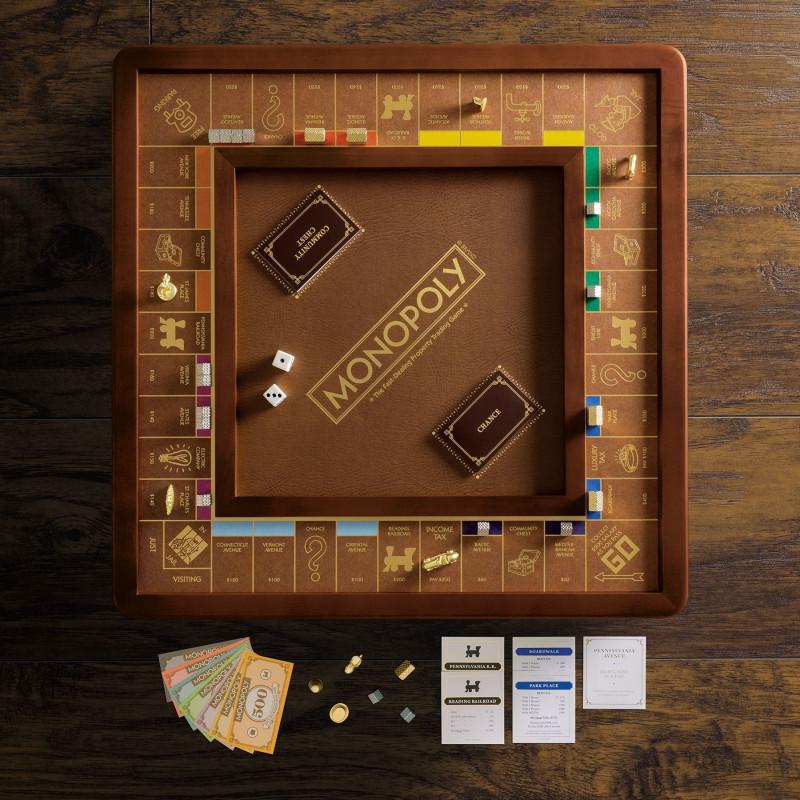 Juego de mesa Monopolio Madera Edición Lujo con accesorios premium 2-6 jugadores