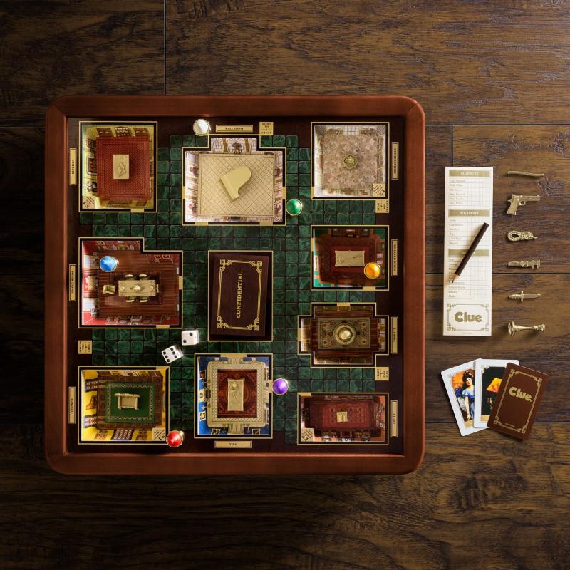 Juego de mesa Clue Madera Edición Lujo con accesorios premium 3-6 jugadores
