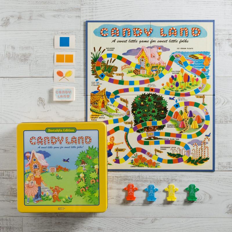 Juego de mesa Candy Land Edición Nostalgia con caja metálica 2-4 jugadores