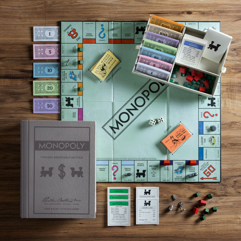 Juego de mesa Monopolio Libro Edición Vintage 2-8 jugadores