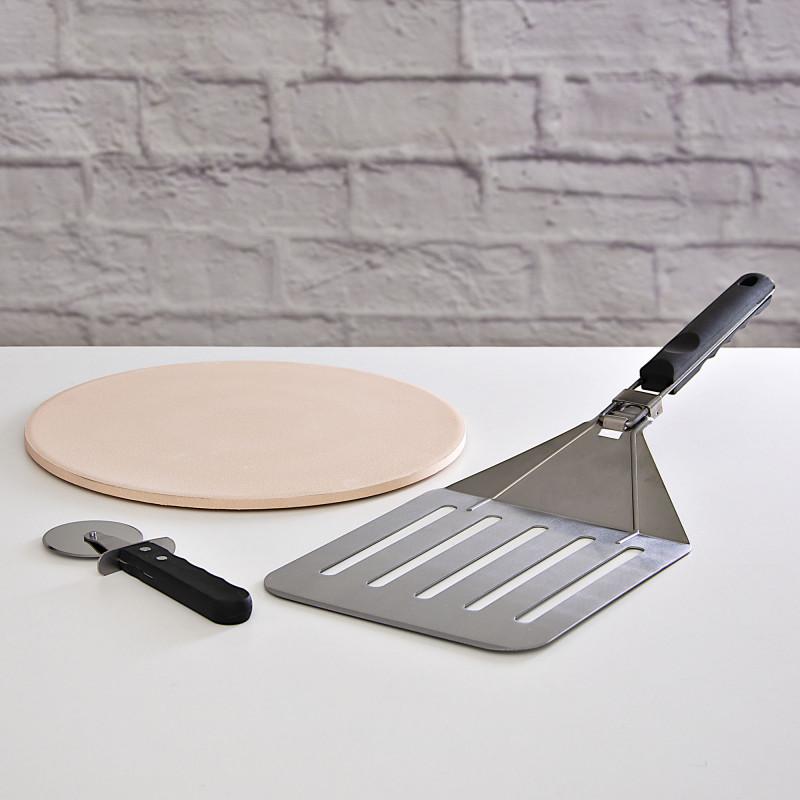 Juego de cortador / plancha / espátula para pizza Tablecraft