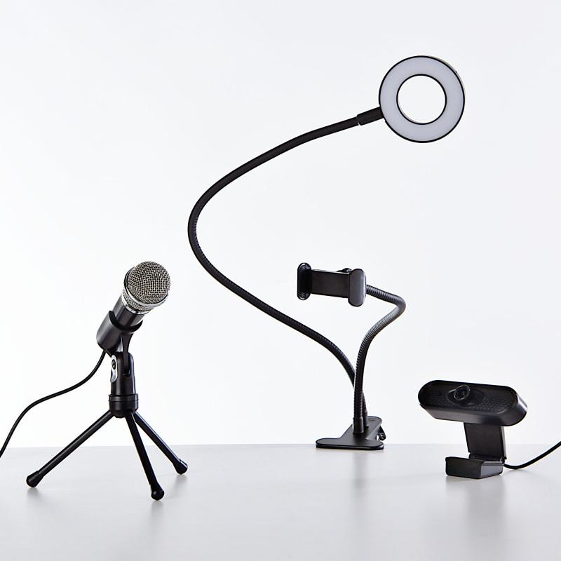 Combo para streaming Aro de luz / MIC / Cámara web 1080P
