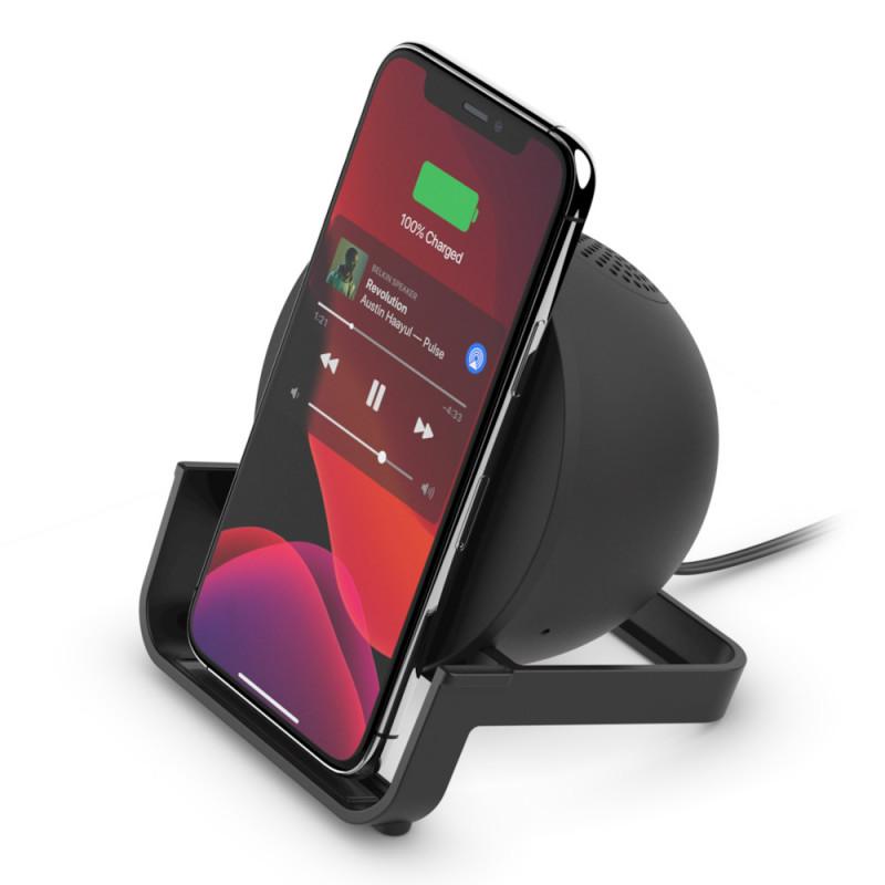 Cargador inalámbrico con parlante Bluetooth Belkin