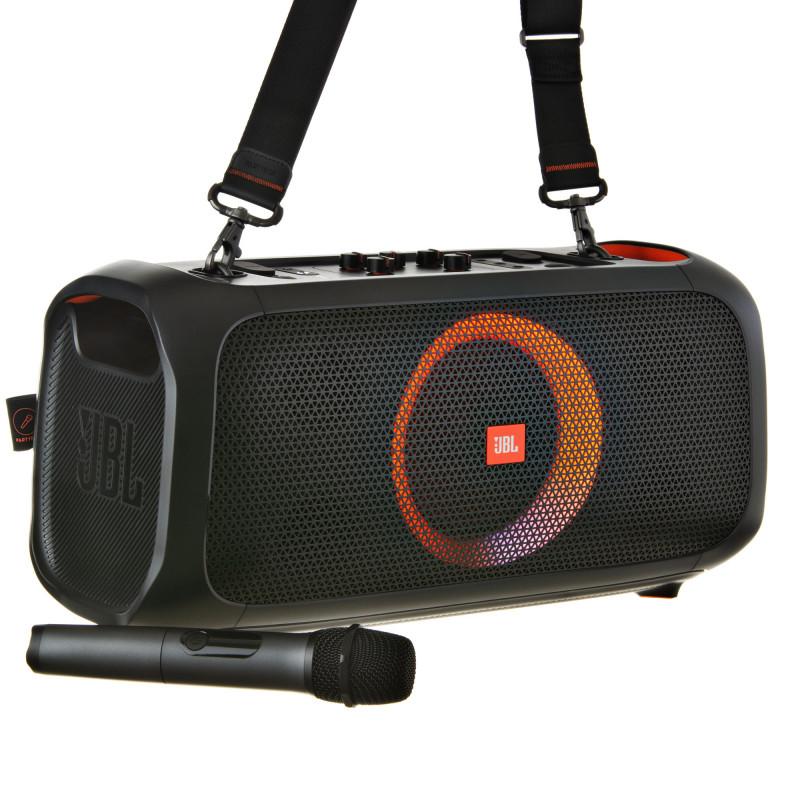JBL Parlante portátil Bluetooth / 6 horas / IPX4 / 50W / Mic inalámbrico PARTYBOX ON-THE-GO