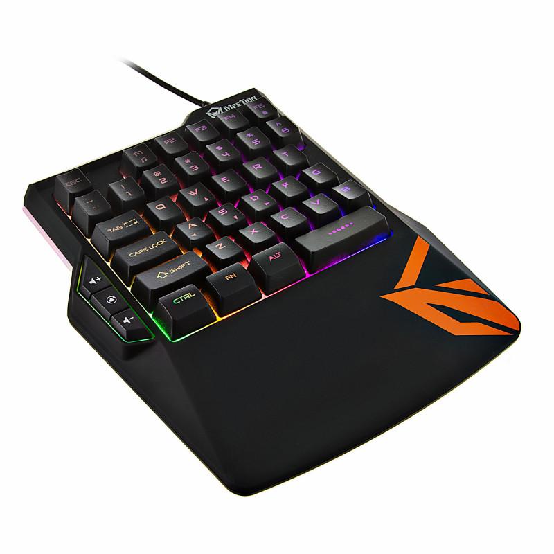Teclado Gaming una mano RGB 38 teclas KB015 Meetion