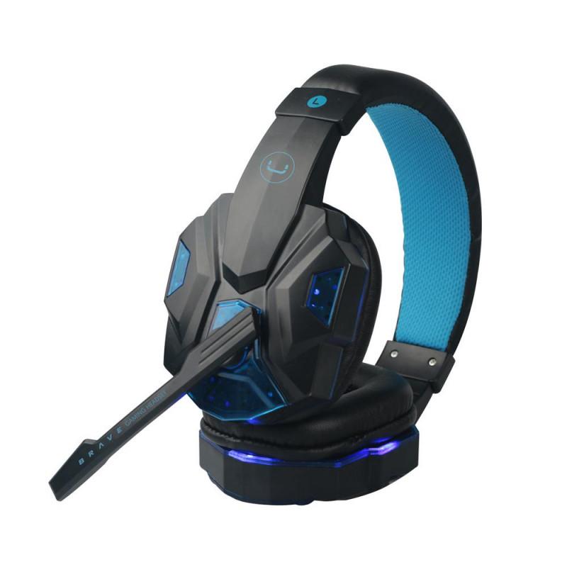 Audífonos gaming USB con micrófono / luz Brave HS7230BL Unno