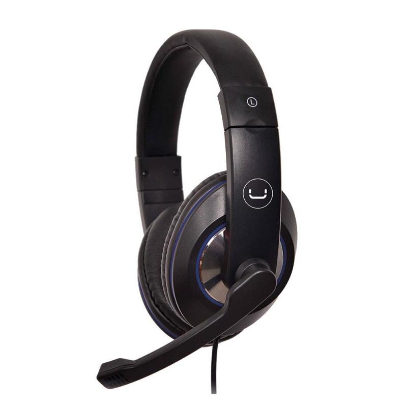 Audífonos gaming 3.5mm con micrófono / luz ACE 12 HS7212BL Unno