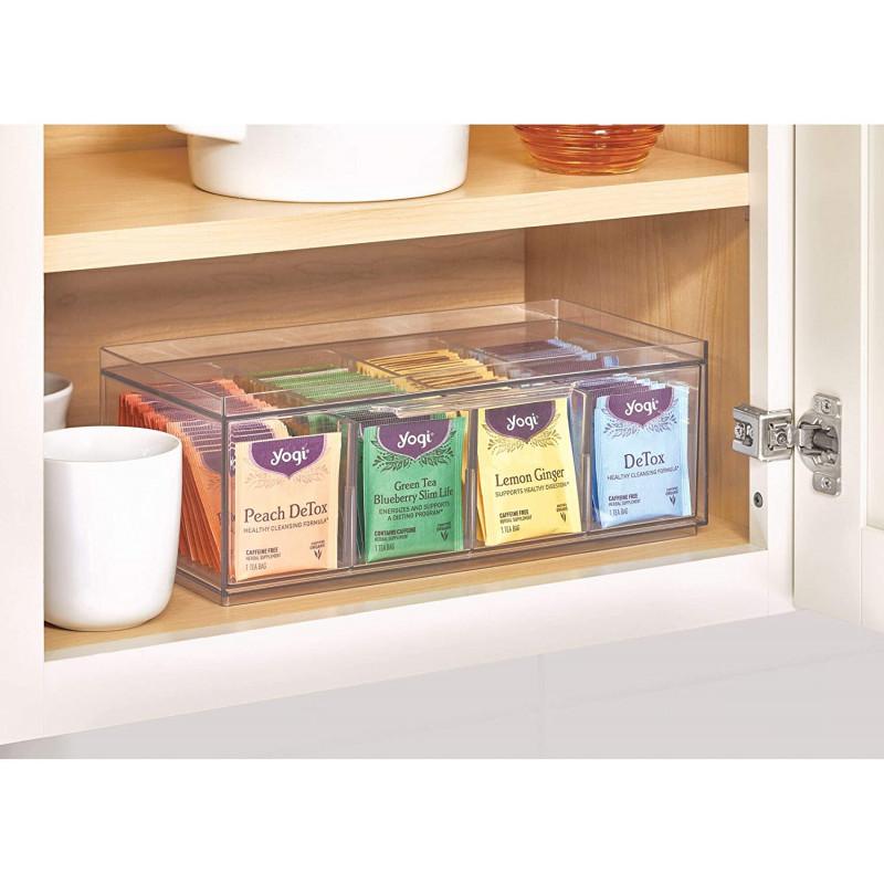 Organizador para sobres de té Clear Crisp Interdesign