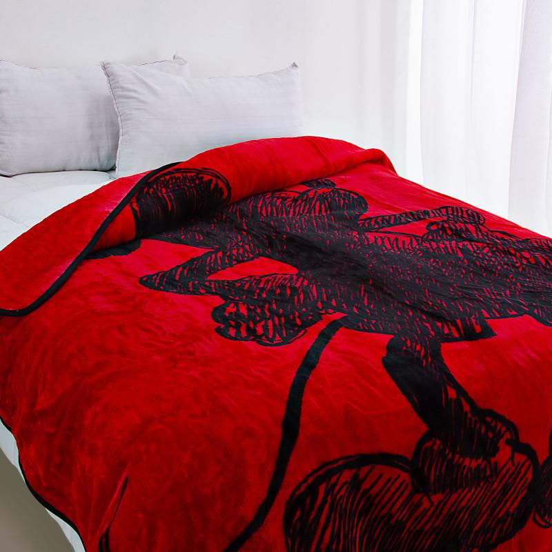 Cobija Mickey Mouse Rojo Sombra