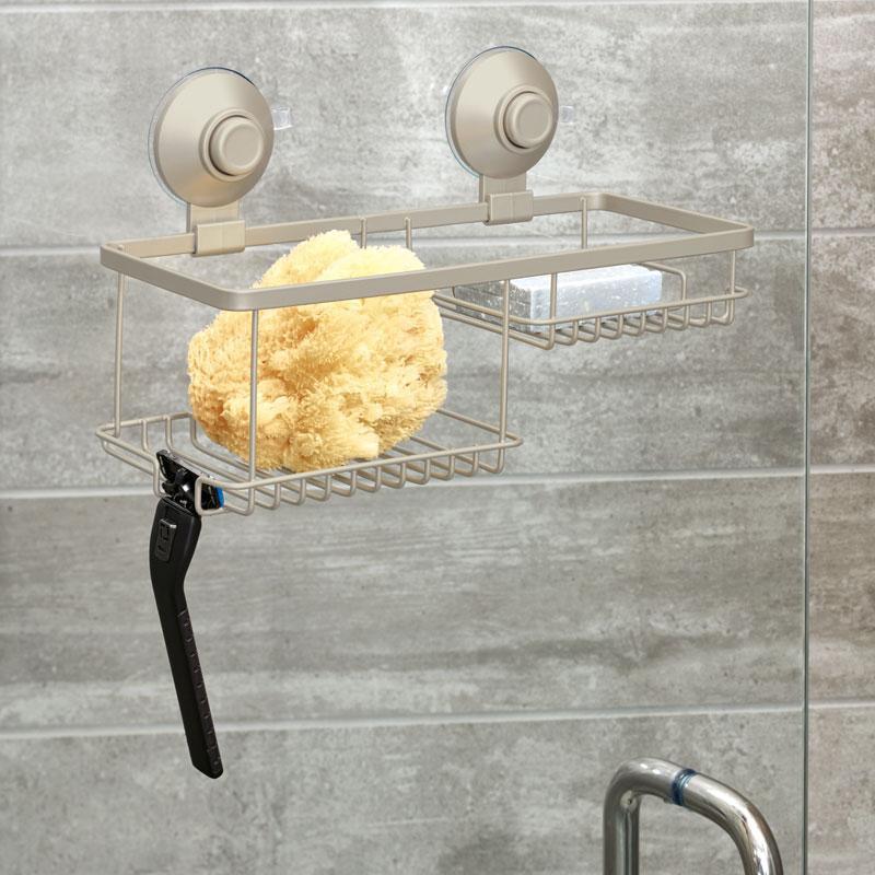 Organizador para ducha con ventosas Everett Interdesign