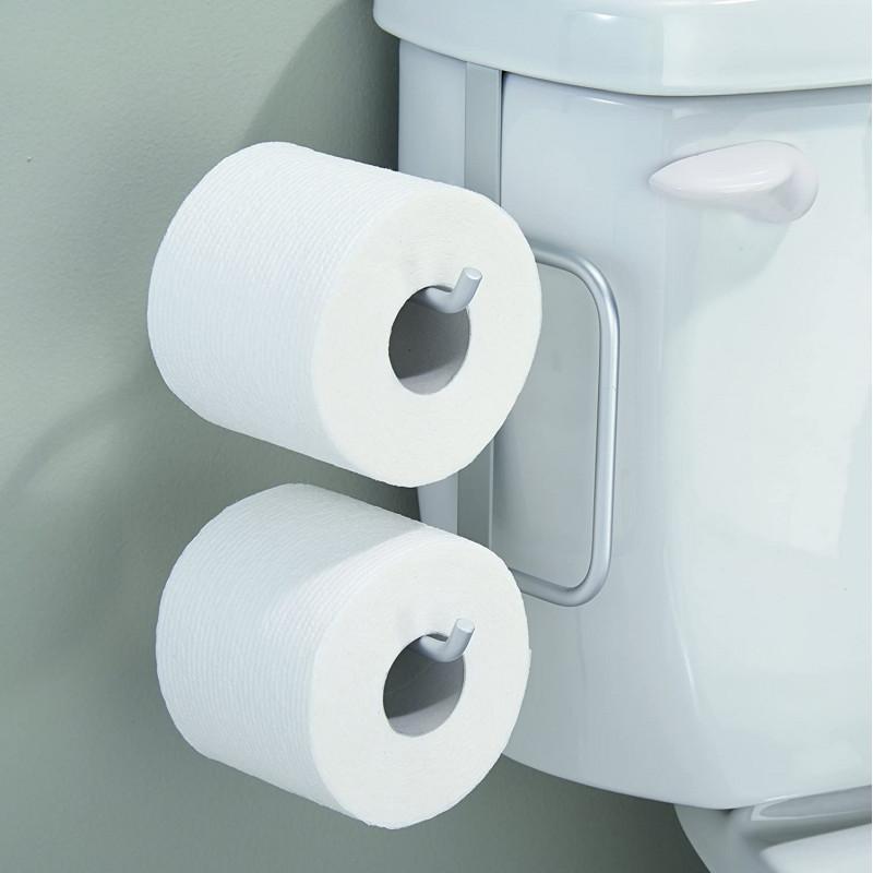 Porta papel de baño para 2 rollos Metro Aluminium Interdesign