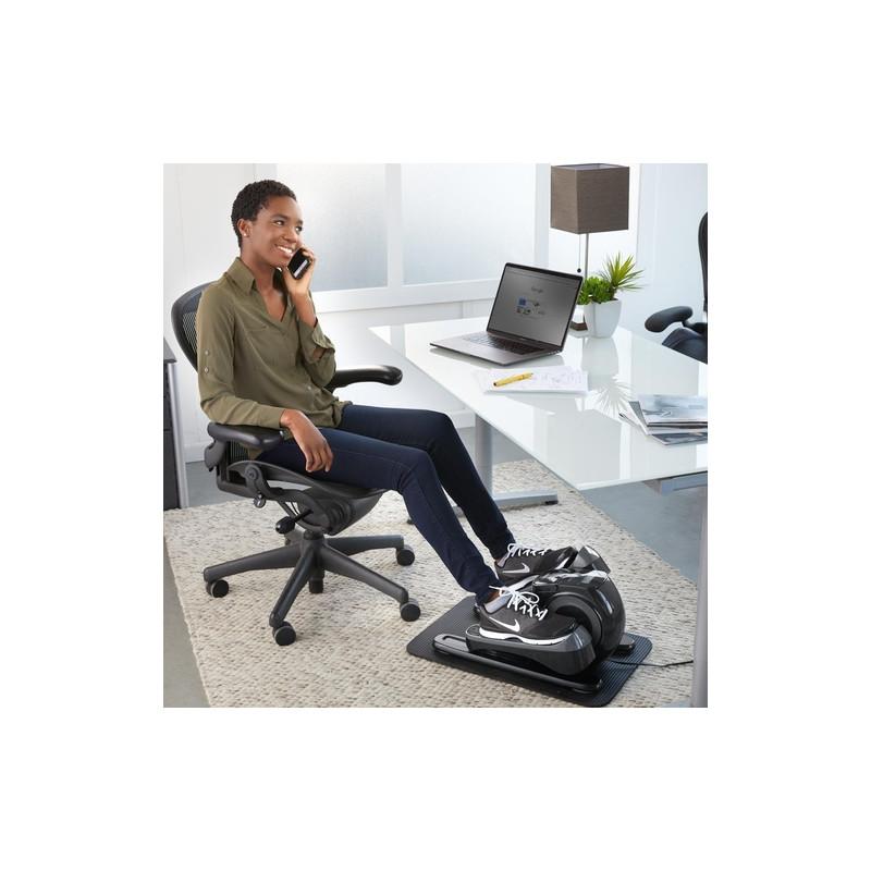 Masajeador / Entrenador para escritorio con contador de pasos y tapete de protección 3 programas FMS-385 Homedics