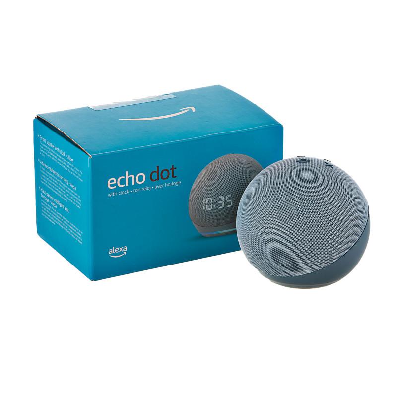 Parlante Echo Dot con reloj 4ta Generación con Alexa Amazon