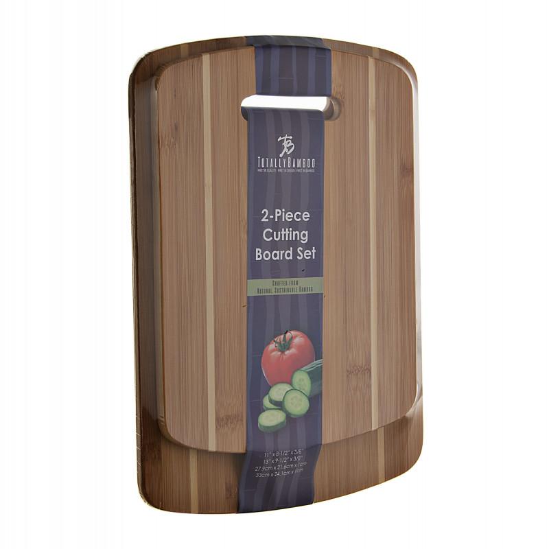 Juego de 2 tablas antimicrobianas para picar Totally Bamboo